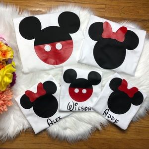 Other - Custom Name Family matching Disney T-shirt